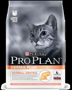 PRO PLAN Derma Plus для взрослых кошек с чувствительной кожей 1,5 кг