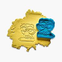 """3D форми для пряників - Вирубка-відбиток """"Вчений сова №4"""""""
