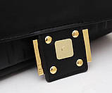 Сумка, клатч Фенди Baguette натуральная кожа 26 см, фото 4