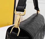 Сумка, клатч Фенди Baguette натуральная кожа 26 см, фото 9