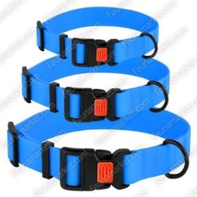 Ошейник ACTIVE для собак водоотталкивающий с защитным полимерным покрытием Голубой 16мм (25-33см )