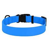 Ошейник ACTIVE для собак водоотталкивающий с защитным полимерным покрытием Голубой 25мм (43-66см), фото 2