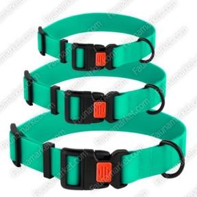 Ошейник ACTIVE для собак водоотталкивающий с защитным полимерным покрытием Зеленый 25мм (43-66см)