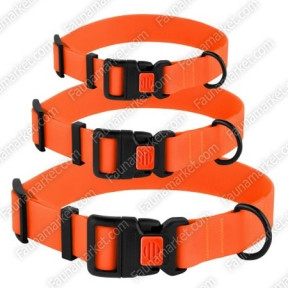 Ошейник ACTIVE для собак водоотталкивающий с защитным полимерным покрытием Оранжевый 16мм (25-33см )
