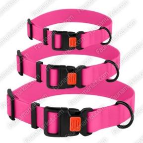 Ошейник ACTIVE для собак водоотталкивающий с защитным полимерным покрытием Розовый 25мм (35-45см)