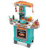 Дитяча ігрова Кухня 008-939А Бірюзова. Висота 87 см світло, звук, посуд, продукти, фото 2