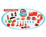 Дитяча ігрова Кухня 008-939А Бірюзова. Висота 87 см світло, звук, посуд, продукти, фото 4