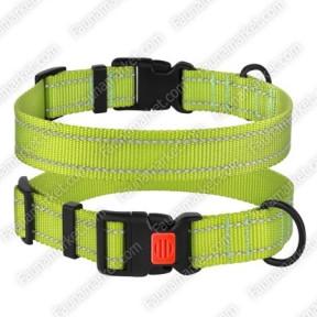 Ошейник ACTIVE для собак нейлоновый со светоотражением Салатовый 25мм (35-45см)