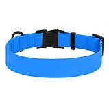 Ошейник для собак силиконовый голубой 25мм (43-66см), фото 2