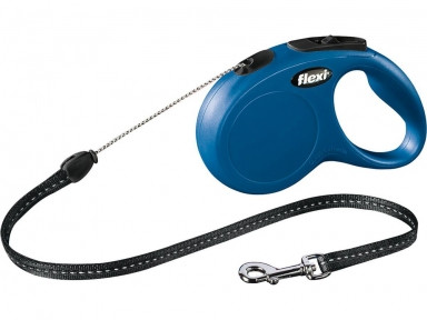 Рулетка Flexi Classic S - трос 5м до 12 кг синяя