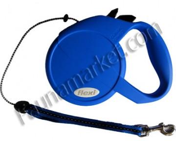 Поводок-рулетка Flexi Classic Long М2  трос 7м на 20кг синяя