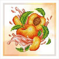 """А5 """"Ароматний персик"""" схема для часткової вишивки бісером"""