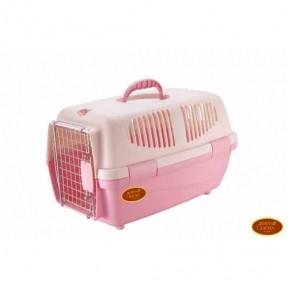 Переноска для собак iata 1 482928 до 5кг Красно-розовая