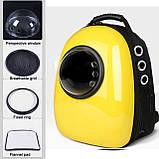 Рюкзак иллюминатор пластик 32х42х29см Желтый, фото 6