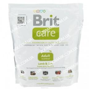 Brit Care S Adult  с ягненком и рисом  для собак весом до 10 кг 1 кг