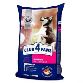 Клуб 4 лапы Премиум для щенков всех пород с курицей 14кг