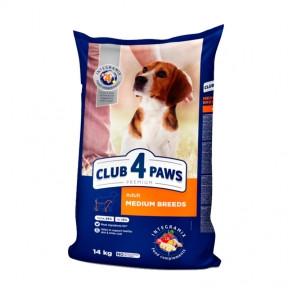 Клуб 4 лапы Премиум для собак средних пород 14кг