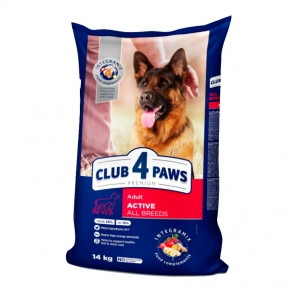 Клуб 4 лапы Премиум для собак всех пород Актив 14кг
