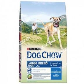 Dog Chow 14кг для щенков крупных пород, индюшка