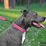 Поводок ACTIVE для собак со светоотражением нейлоновый Розовый 16мм152см, фото 3