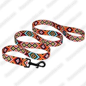 Поводок Tribal для собак нейлоновый Гуцульский Оранжевый 16мм152см