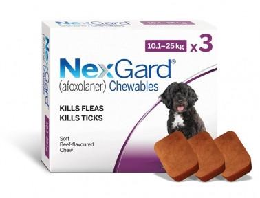 Nexgard (Нексгард) - таблетки для собак от блох и клещей L 10-25кг  3 таблетки