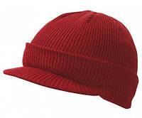Вязаная шапка с козырьком 7530-7