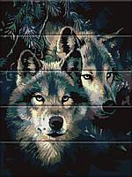 """Картина по номерам на дереве """"Сила волка"""" 30*40 см, фото 1"""
