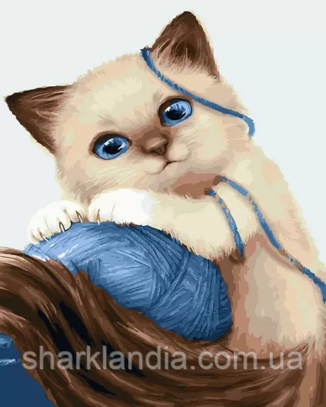 "Картина по номерам. Brushme "" Котёнок с клубком "" GX23633"