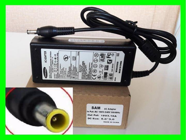 Блок Питания SAMSUNG 19v 3.16a 60W штекер 5.5 на 3.0 (ОРИГИНАЛ)