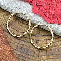 Женские позолоченные серьги Xuping, 25х2 мм вес 2.9 г позолота 18К