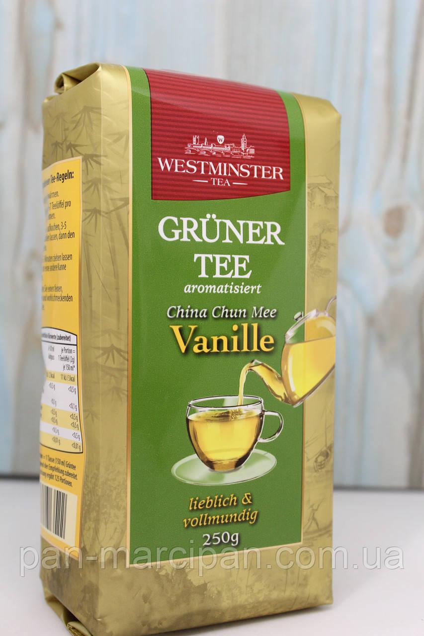 Чай зелений Westminster Gruner Tee Vanille 250г