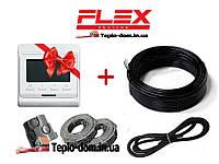 Теплый пол Flex 1,5м²- 1,8м²/ 262.5 Вт (15м) нагревательный кабель с программируемым терморегулятором E51