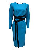Женское бирюзовое платье футляр