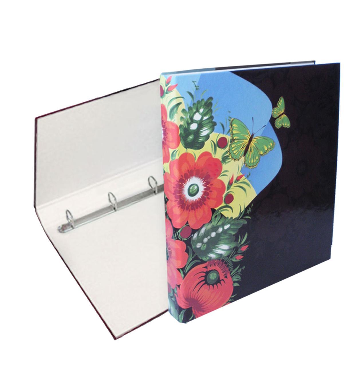 Папка с кольцами, 4 кольца, А4, 25 мм, полноцветная, PP-покрытие