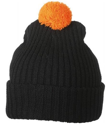 Вязаная шапка с помпоном 7540-1
