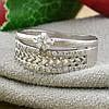 Серебряное кольцо Пассаж вес 2.5 г размер 17.5 белые фианиты, фото 4