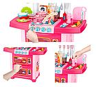 Детская звуковая кухня с циркуляцией воды розовая, фото 3