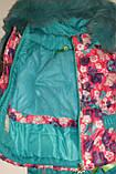 Зимний комбинезон розовый с бирюзой на девочку Синди  92 р., фото 6
