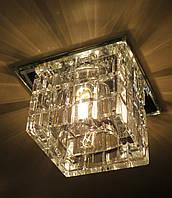 Точечный светильник с кристаллом K9 Feron JD106 прозрач JCD9
