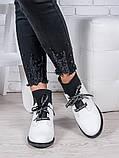 Ботинки кожаные Элиза белые 6949-28, фото 2