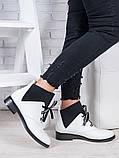 Ботинки кожаные Элиза белые 6949-28, фото 3