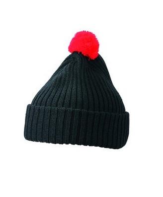 Вязаная шапка с помпоном 7540-2