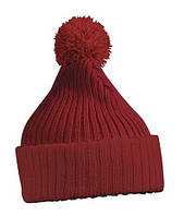 Вязаная шапка с помпоном 7540-3