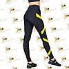 Женские спортивные лосины с желтыми вставками, фото 3