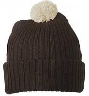 Вязаная шапка с помпоном 7540-4