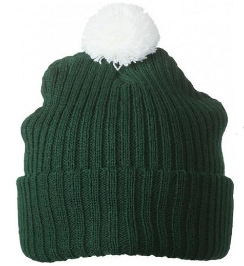 Вязаная шапка с помпоном 7540-5