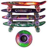 Скейт PennyBoard, з ручкою, що світяться колеса