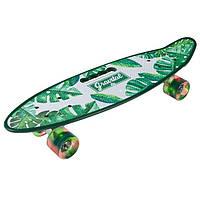 Скейт PennyBoard, з ручкою, що світяться колеса Зелений