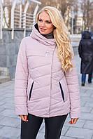 Демисезонная женская куртка Аврора, 52-62 размеры, пудра, с капюшоном, куртка на осень бренда MioRichi